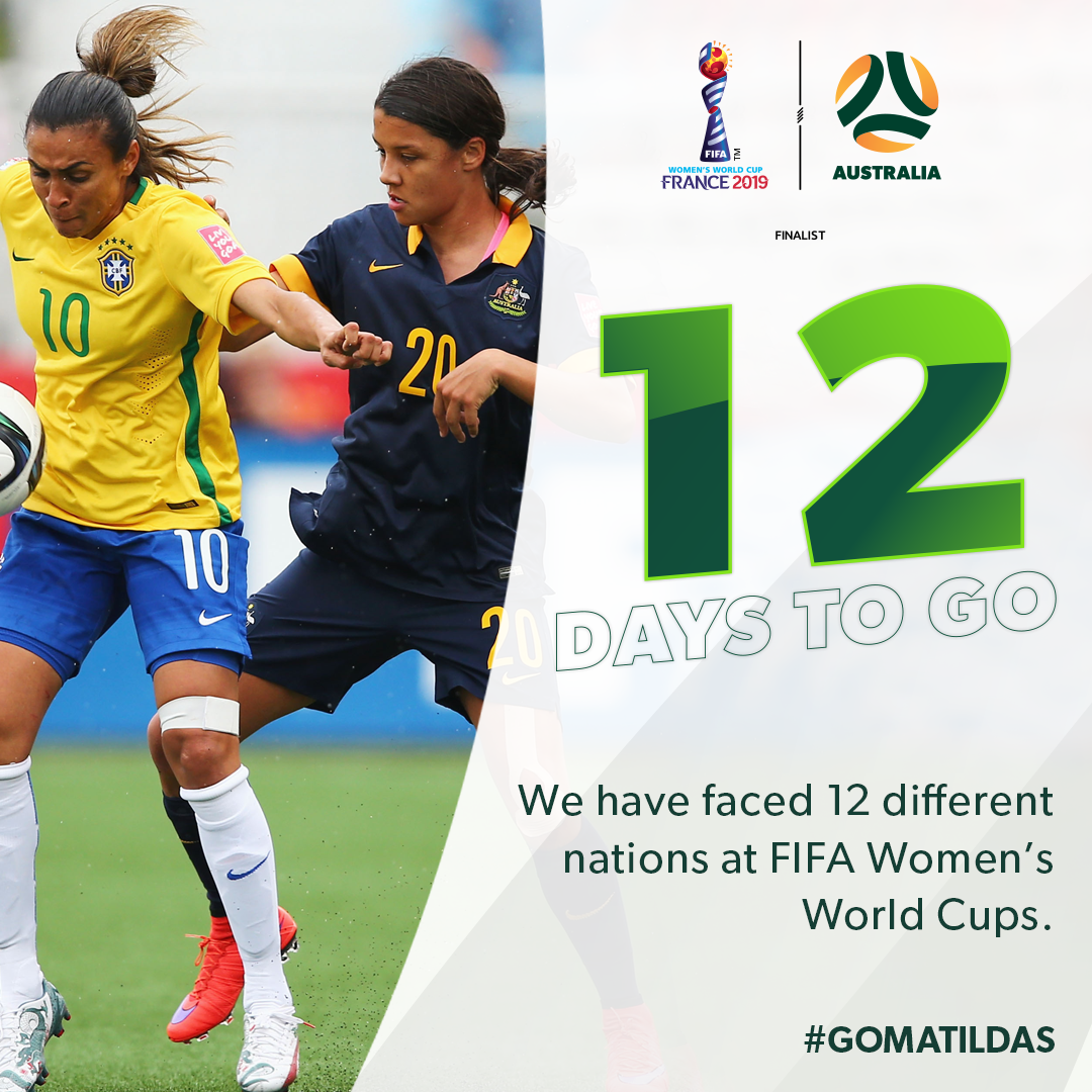 FIFA Women's World Cup: 12 days to go
