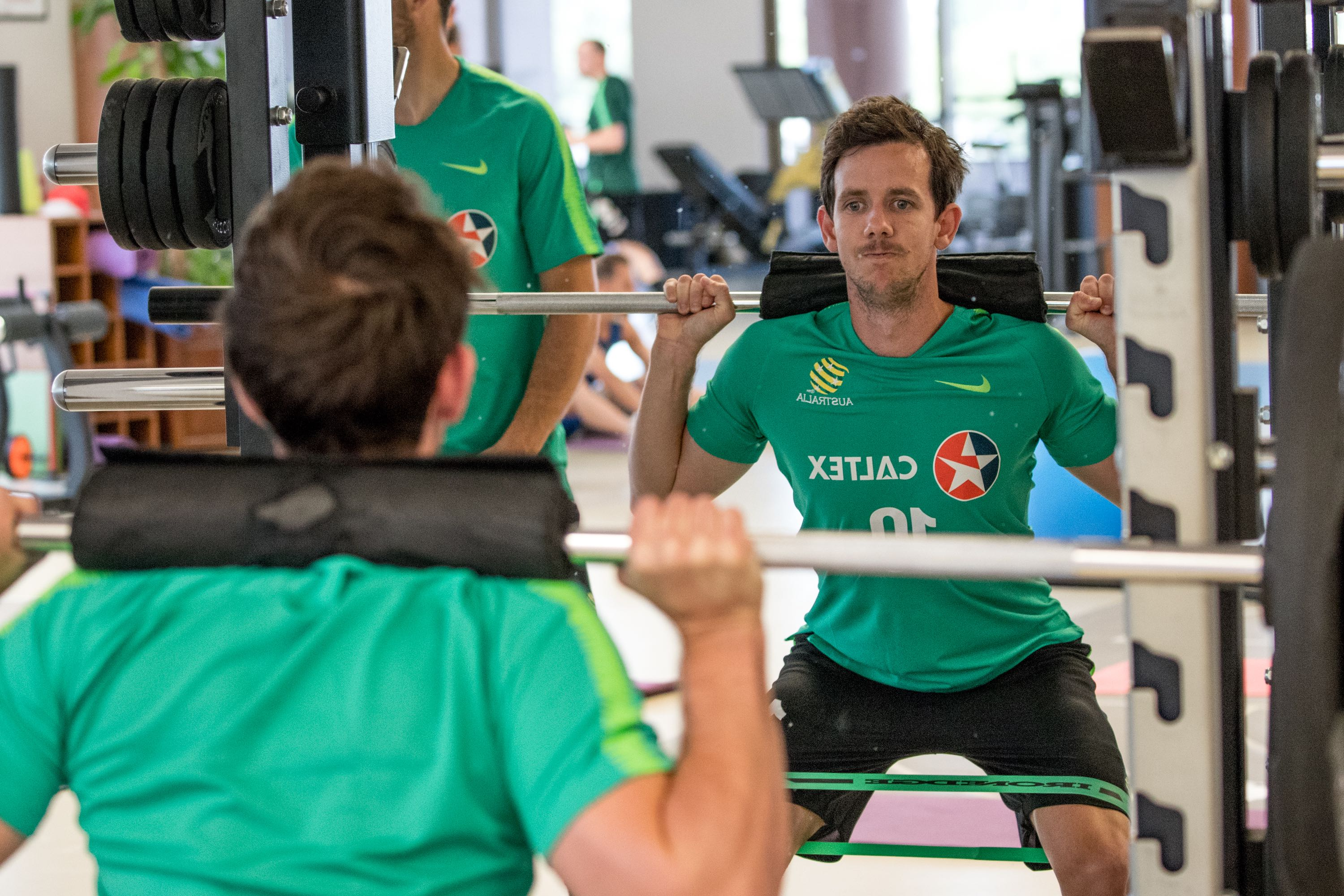 Robbie Kruse during the Day 2 gym session