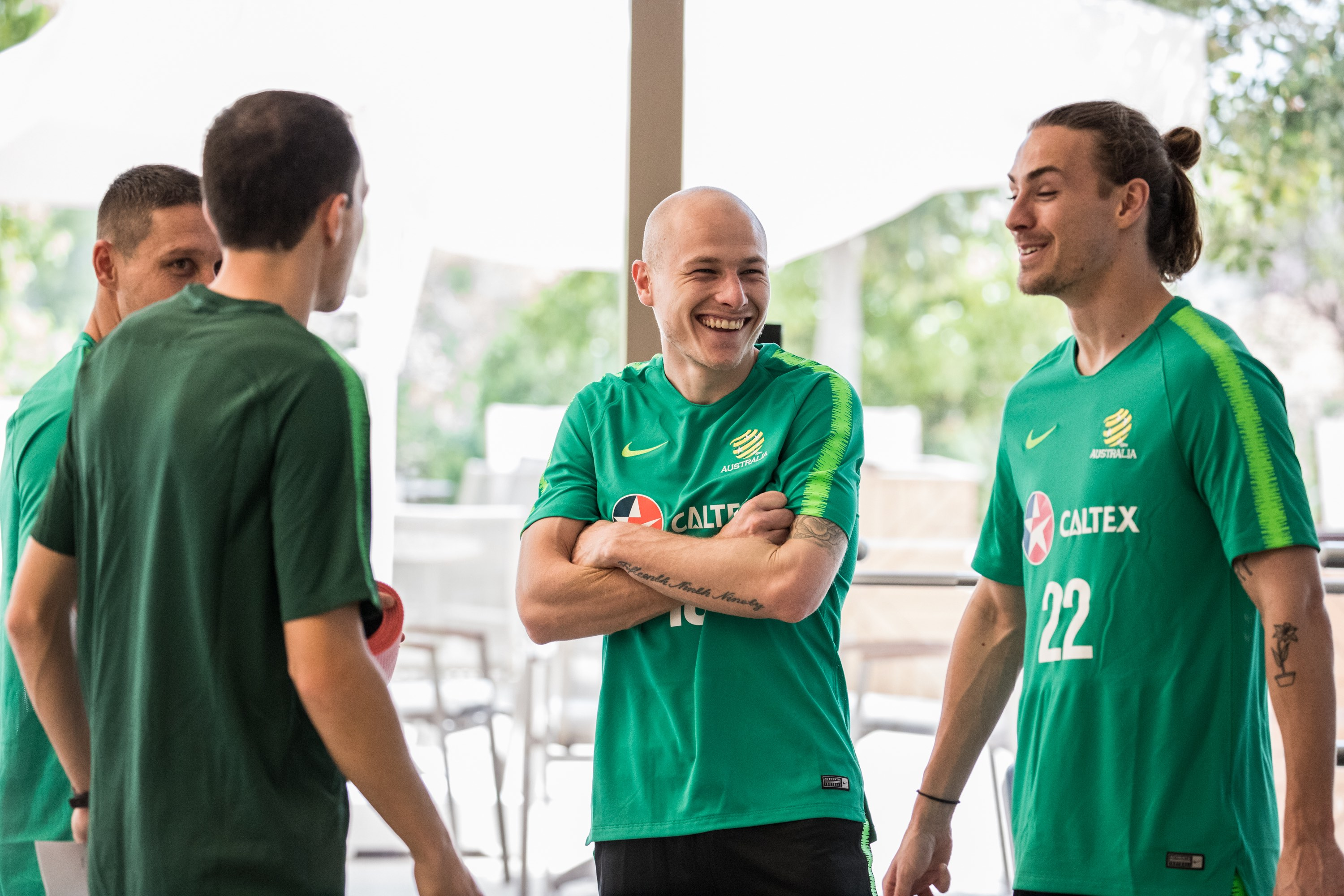 Aaron Mooy and Mark Milligan arrived in camp and trained on Day 2