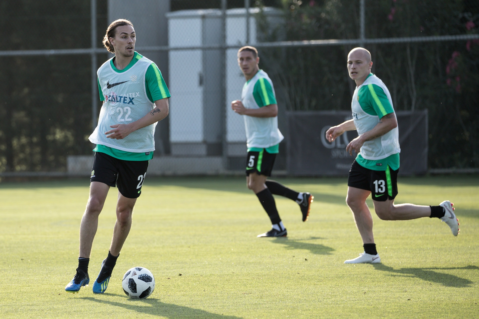 Jackson Irvine during the training game