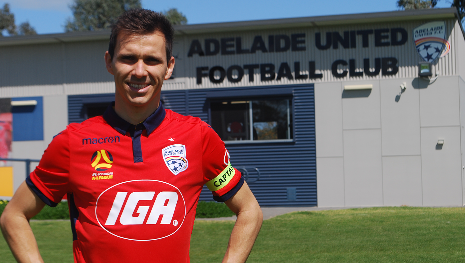 Isaías was officially unveiled as Adelaide United's Captain at the Club's 2017/18 Season Launch.