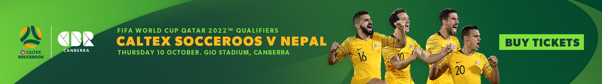 SOCCEROOS BUY NEPAL TICKETS