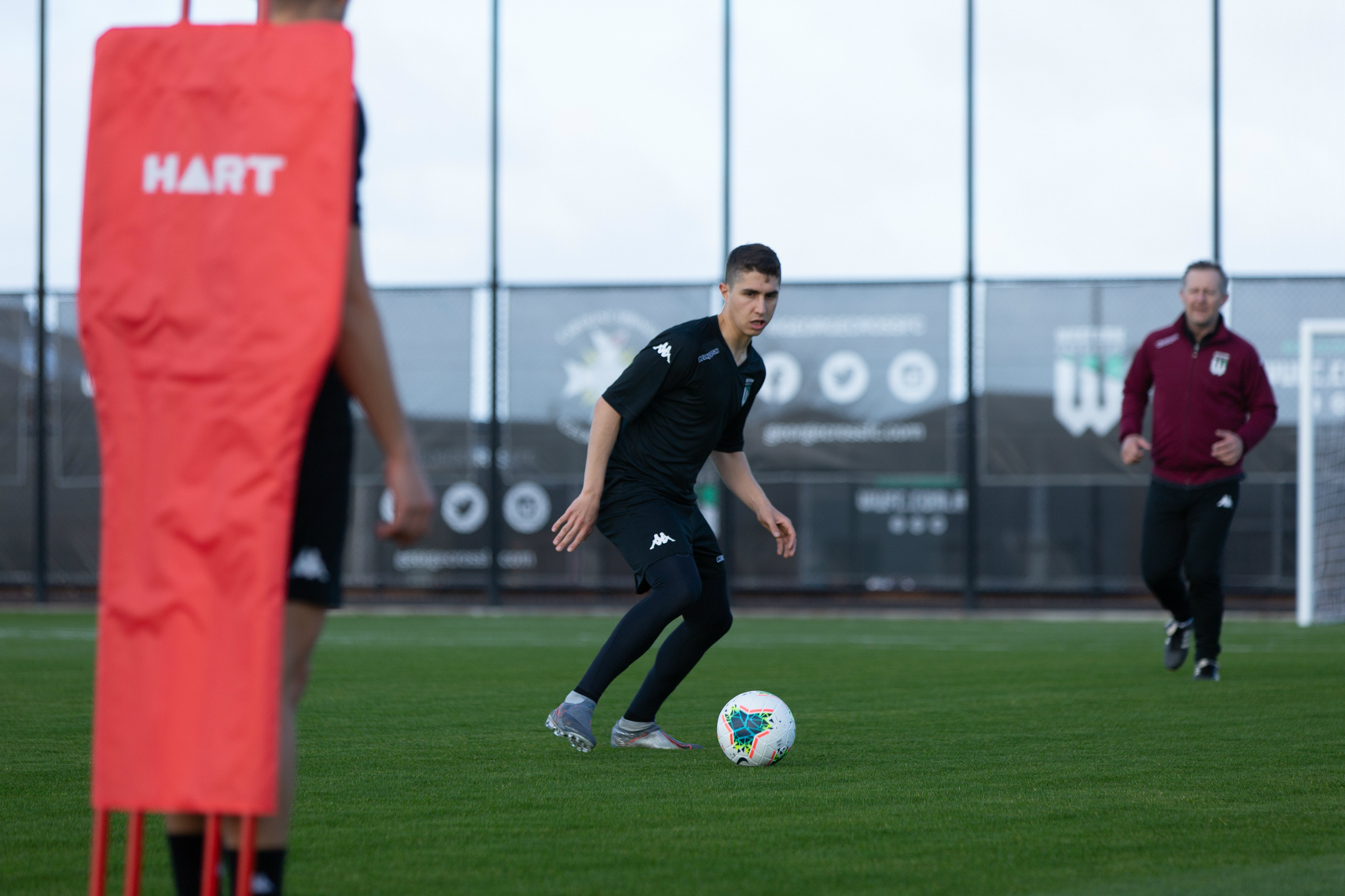 Sebastian Pasquali in training with Western United FC