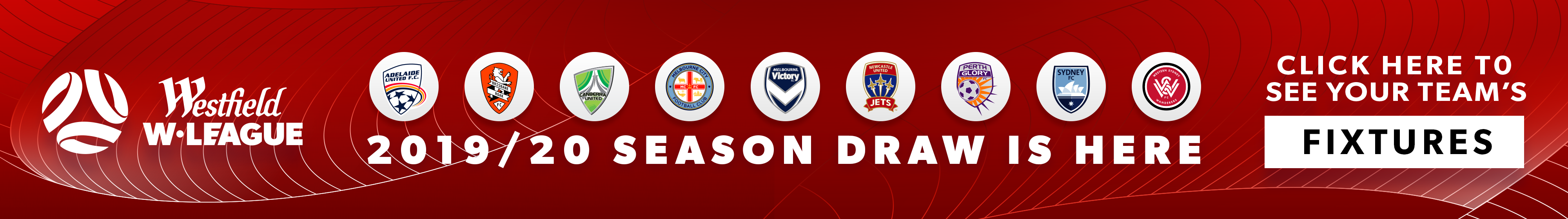 Westfield W-League 2019/20 Season Draw Thin Banner
