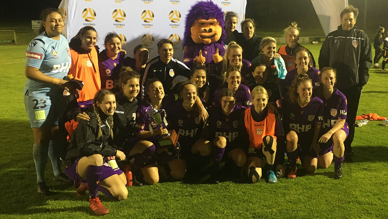 W-League team shot with Challenge Cup