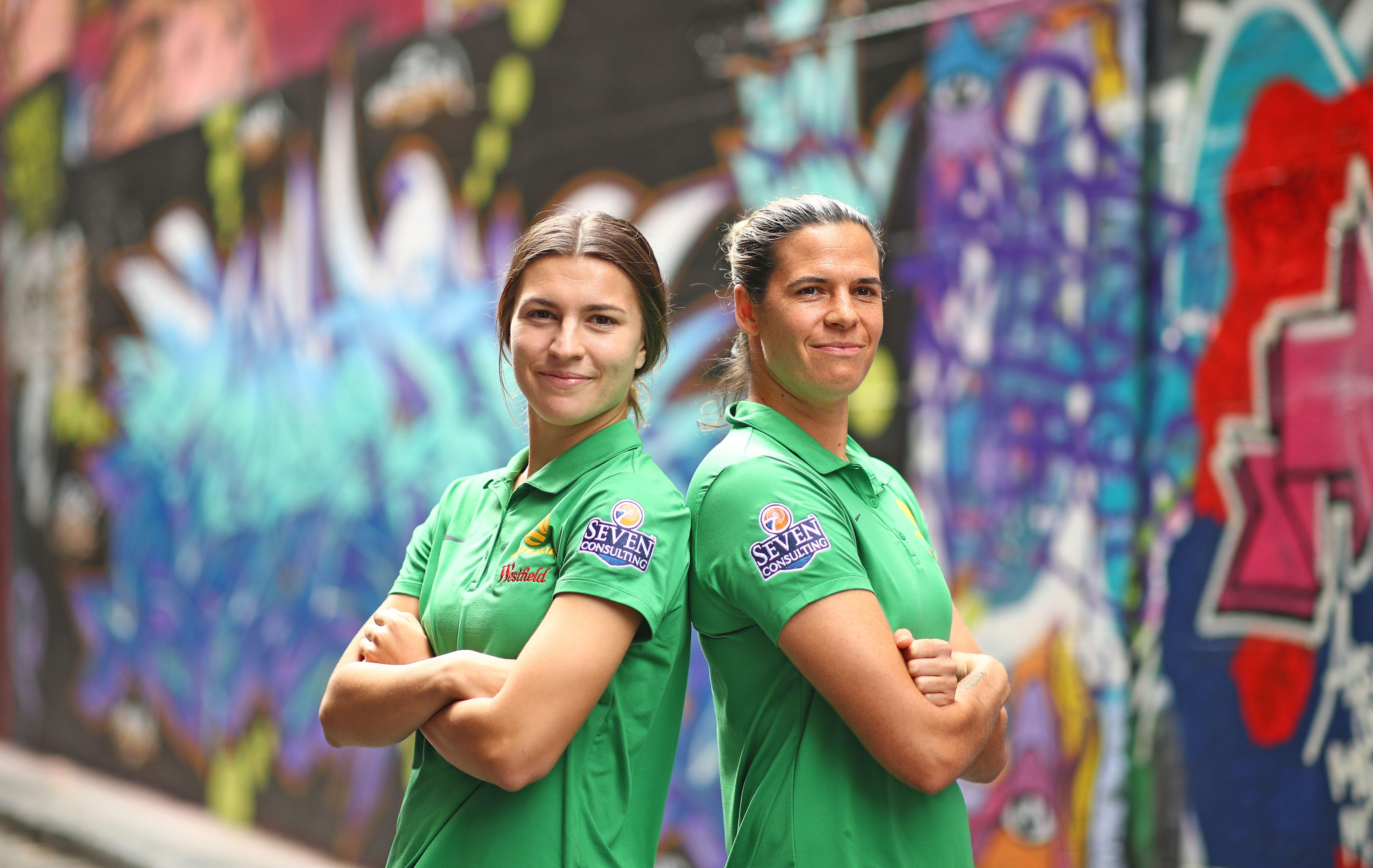 Steph Catley and Lydia Williams