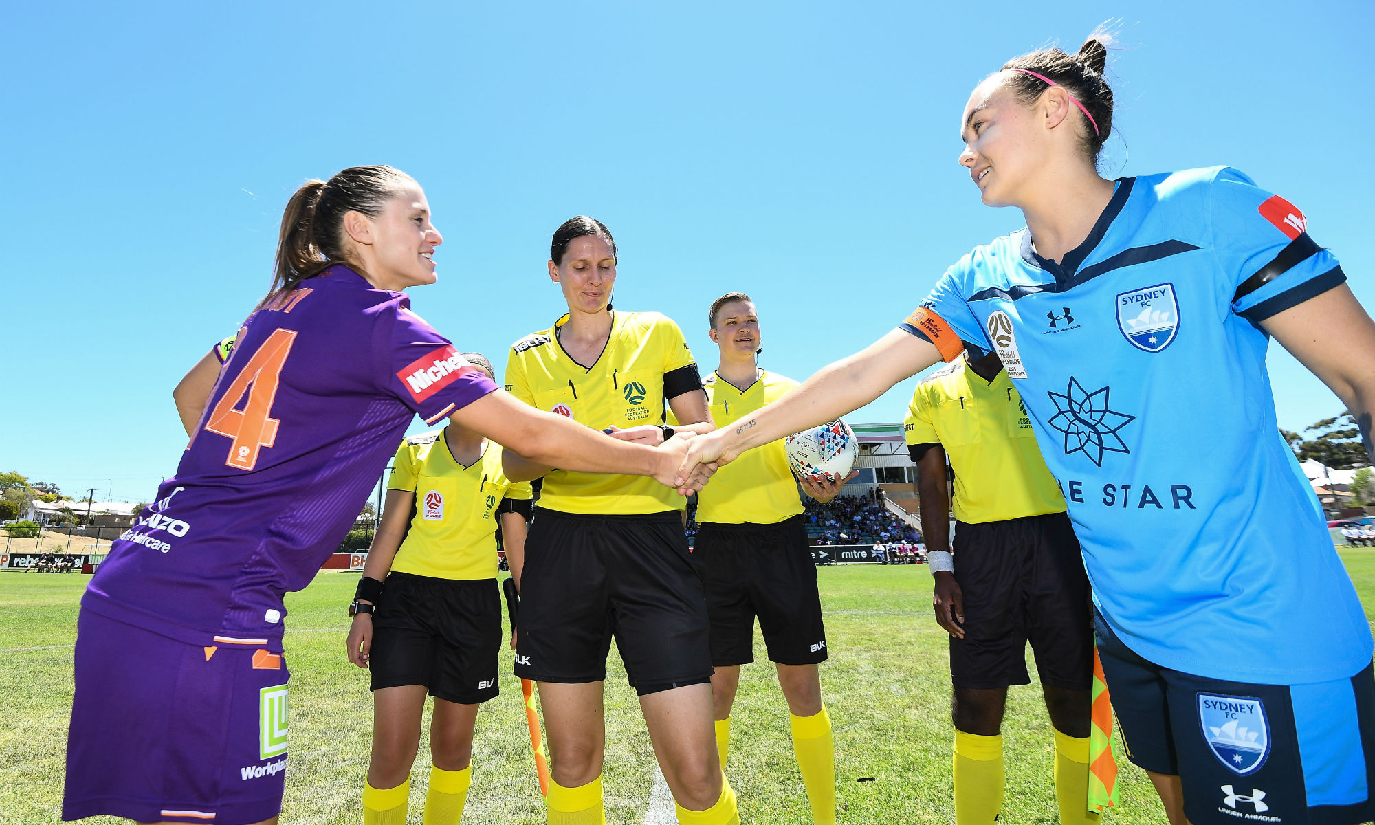 Caitlin Foord led out Sydney FC in their 3-1 win against Perth Glory in Round 3.