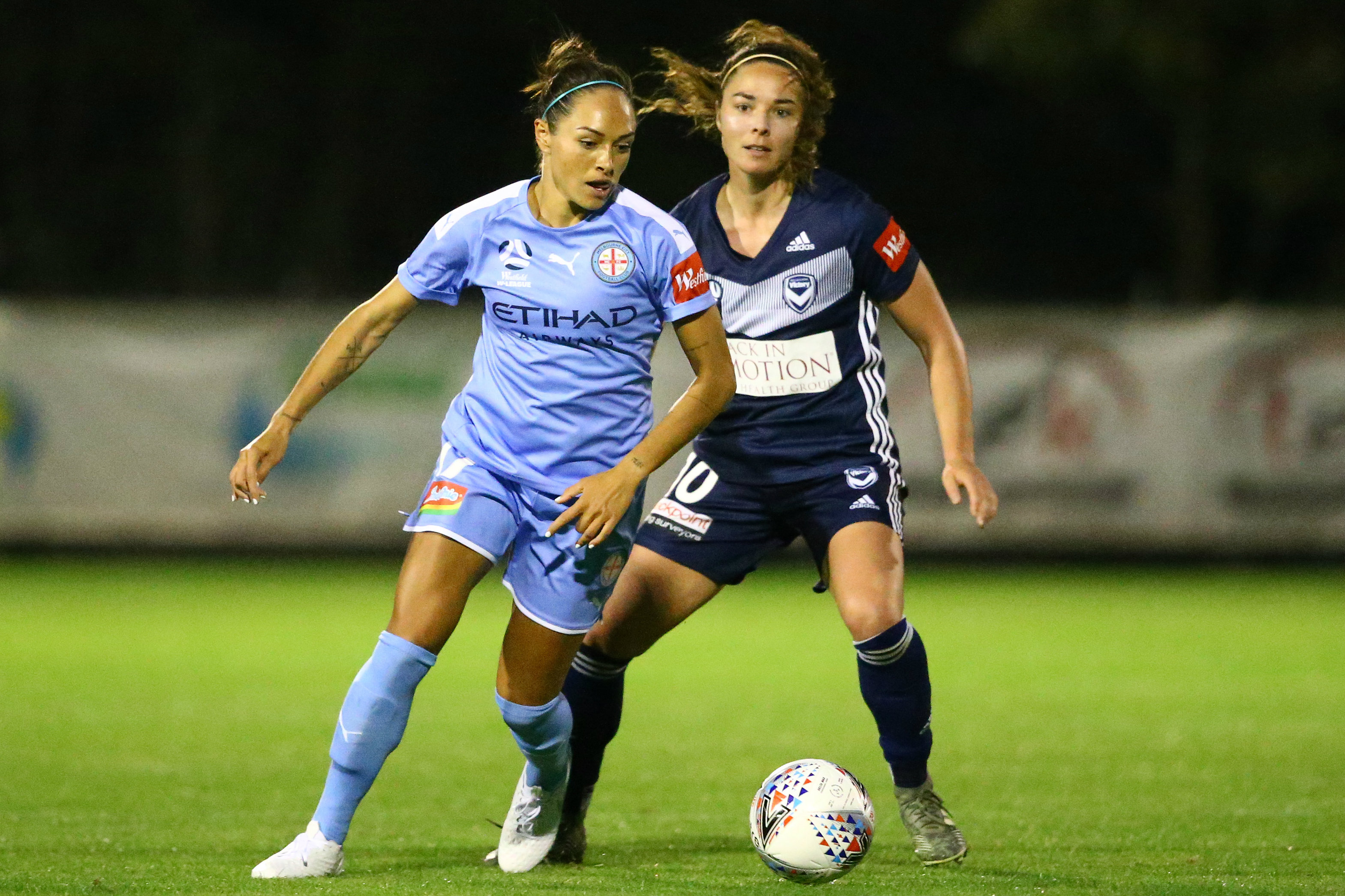 Kyah Simon had a couple of City's best chances in the second half