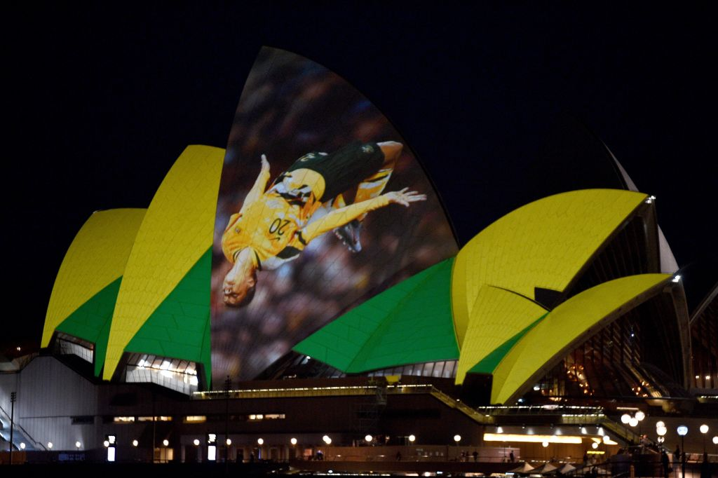 Sam Kerr Sydney Opera House backflip