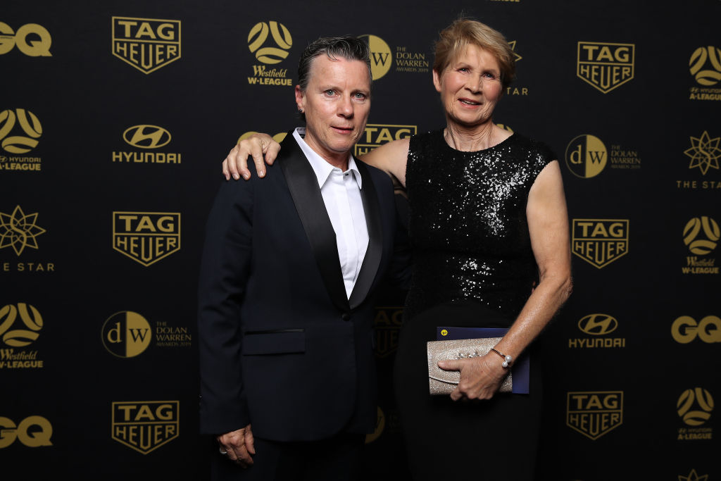 Wardell with her former captain Julie Dolan