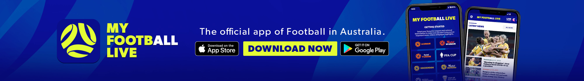 My Football Live app thin banner 2021