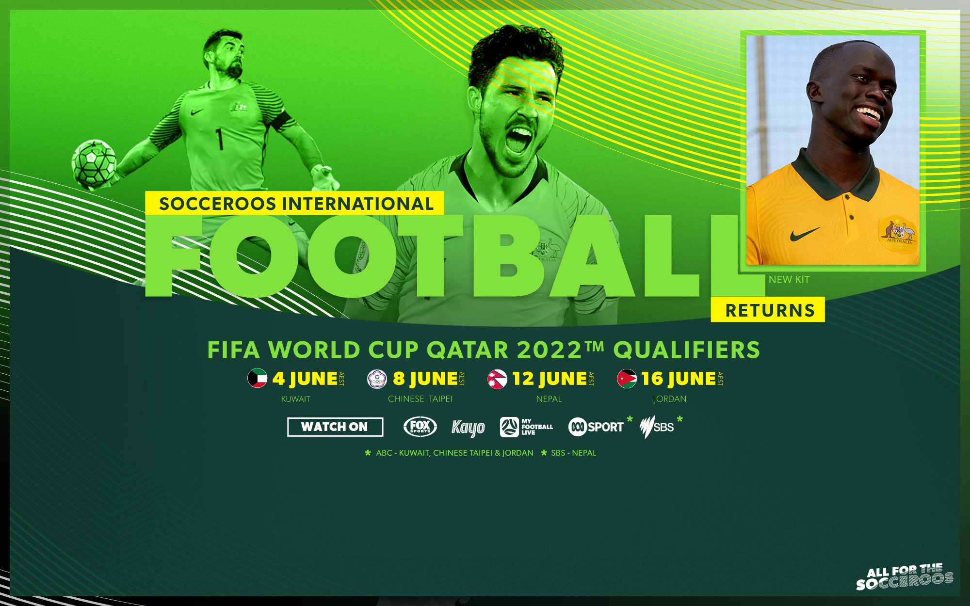 Final Information: Learn how to watch Socceroos June FIFA World Cup Qualifiers