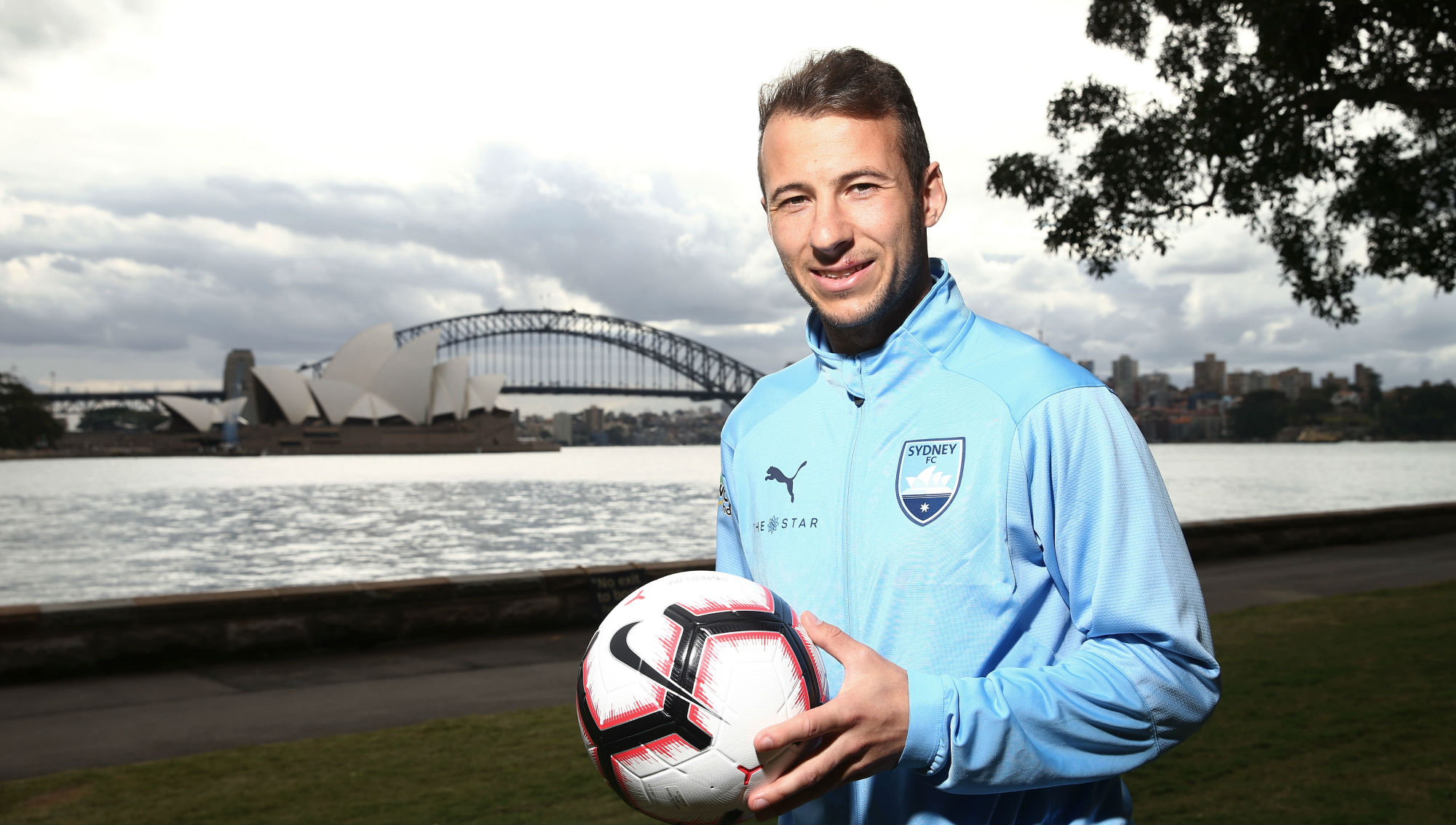 Adam Le Fondre by Sydney harbour