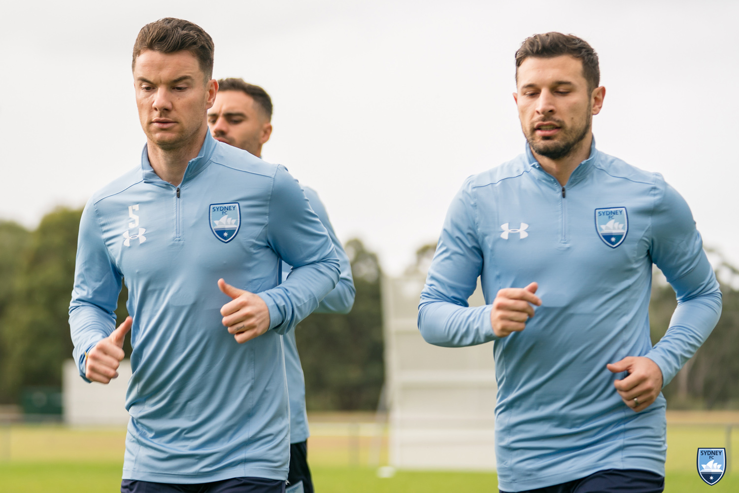 Alex Baumjohann & Kosta Barbarouses In Sydney FC Training