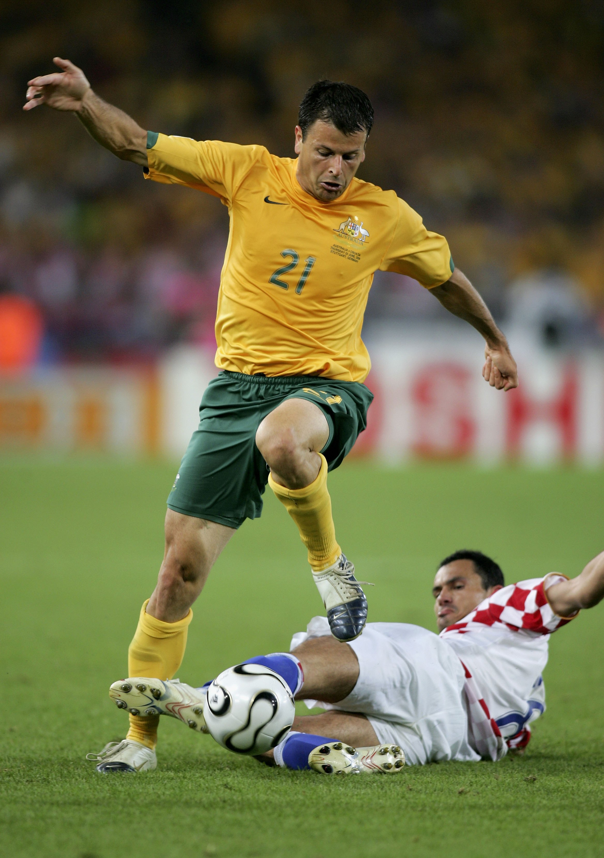 Mile Sterjovski in action against Croatia