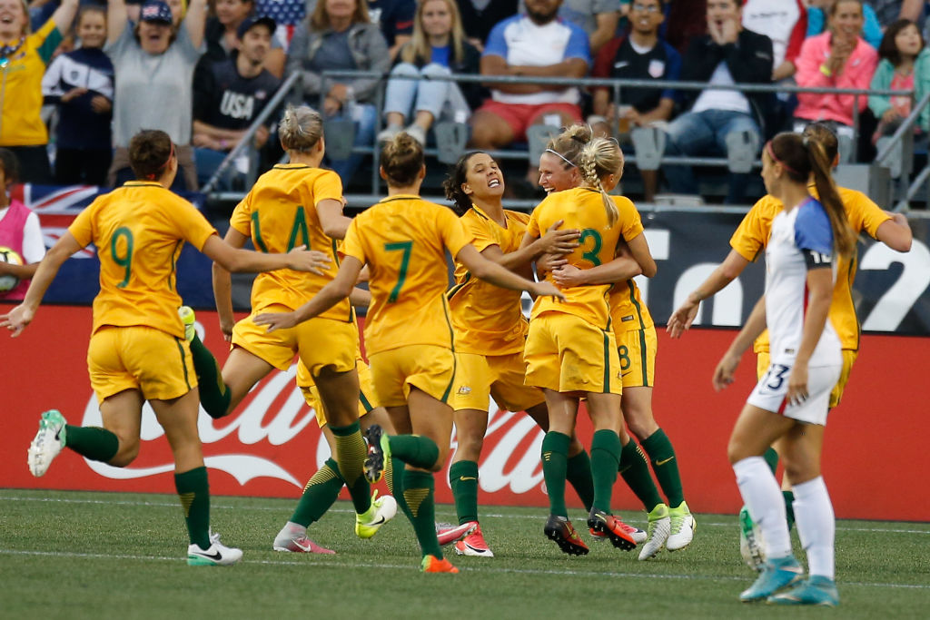 matildas united states tournament of nations 2017 celebrates
