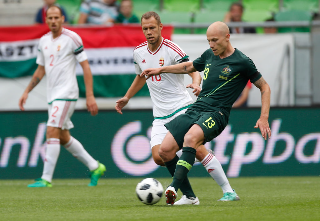 Aaron Mooy against Hungary