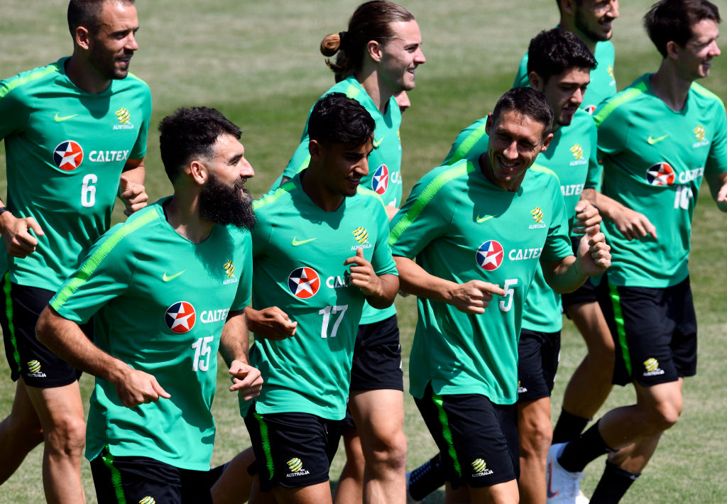 Socceroos training