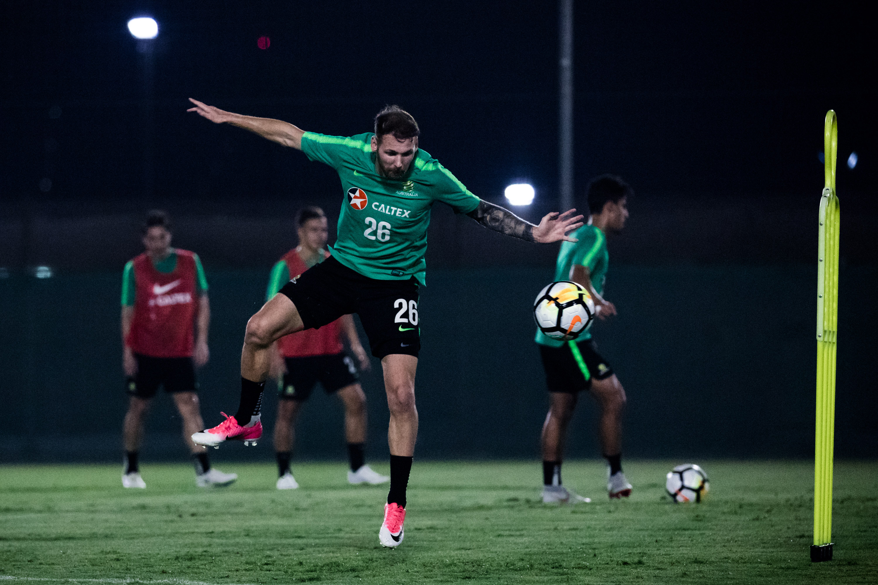 Caltex Socceroos Training in Dubai