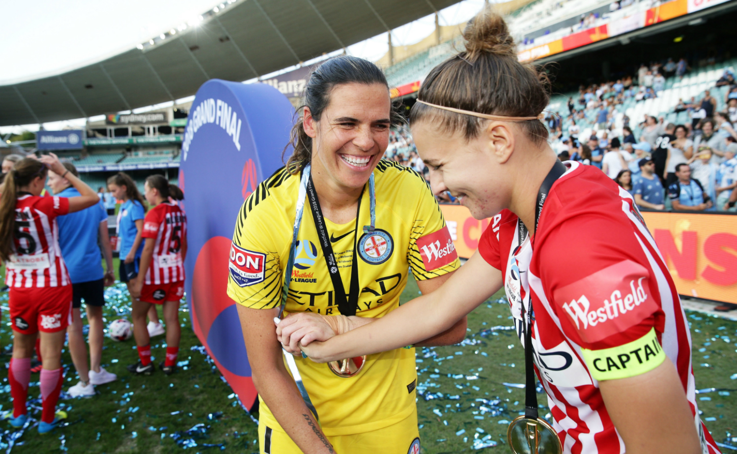 Lydia Williams and Steph Catley