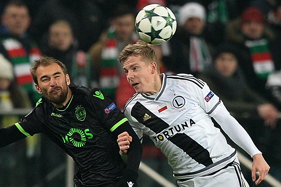 Michal Kopzcynski in action in the UEFA Champions League.
