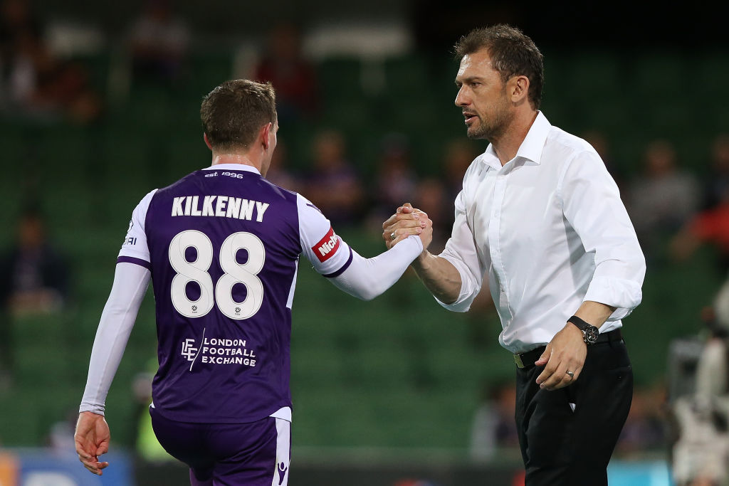 Neil Kilkenny and Tony Popovic