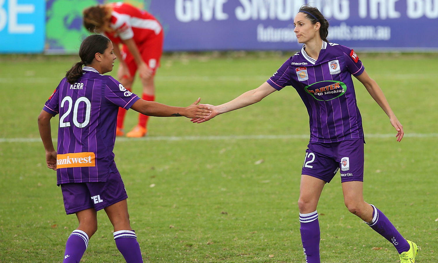 Sam Kerr and Kate Gill