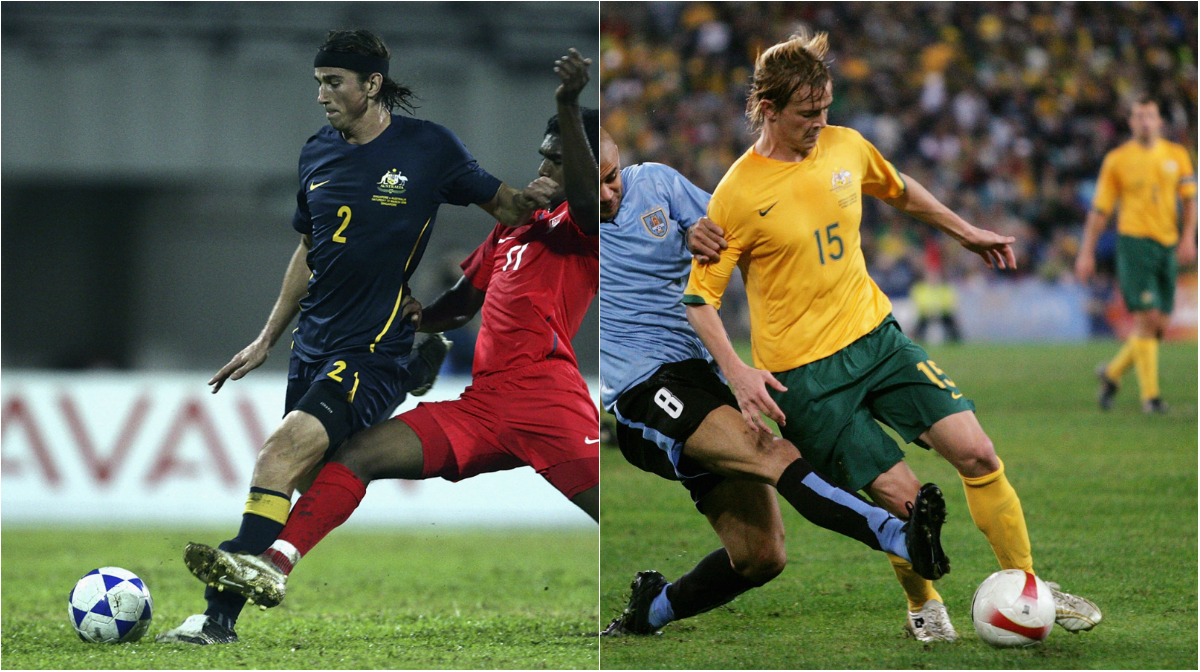Adam Griffiths made his Caltex Socceroos debut alongside brother Ryan