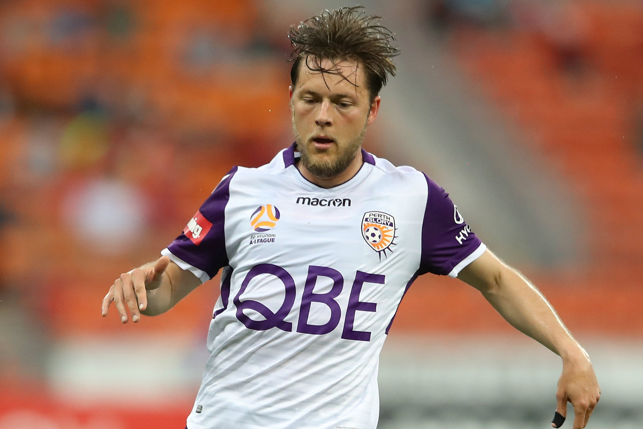 When he's not concerning himself with environmental issues, Chris Harold is a handy winger with Perth Glory.