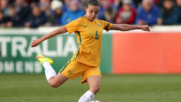 Chloe Logarzo in action for Australia against New Zealand last month.