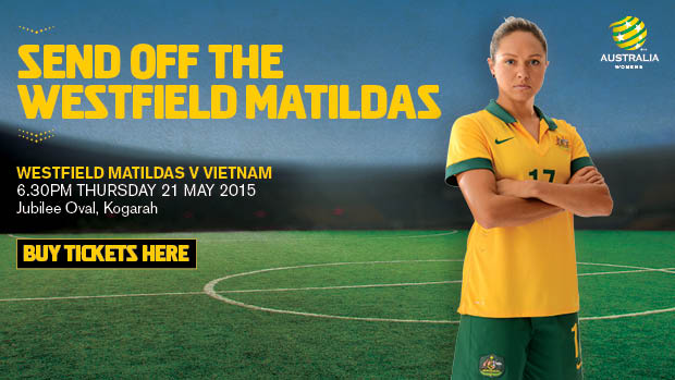 The Westfield Matildas will play Vietnam at Kogarah Oval on Thursday 21st May.