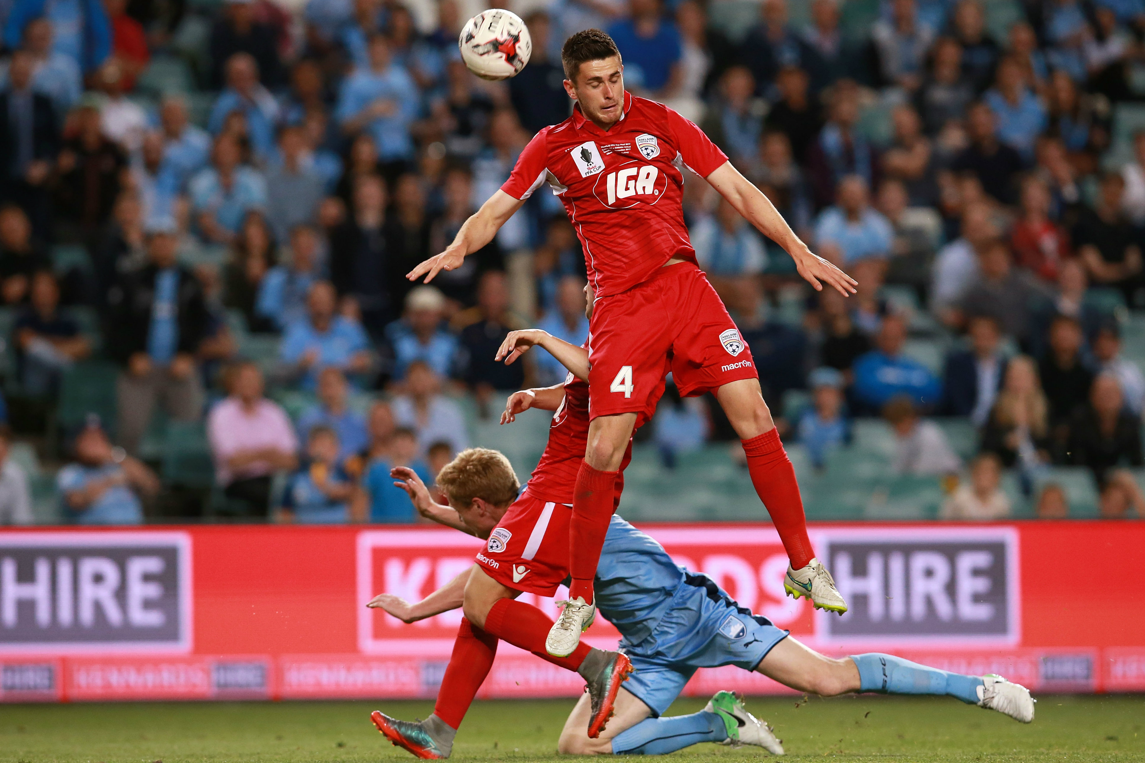 Ben Warland played against Sydney FC in the 2017 FFA Cup final.
