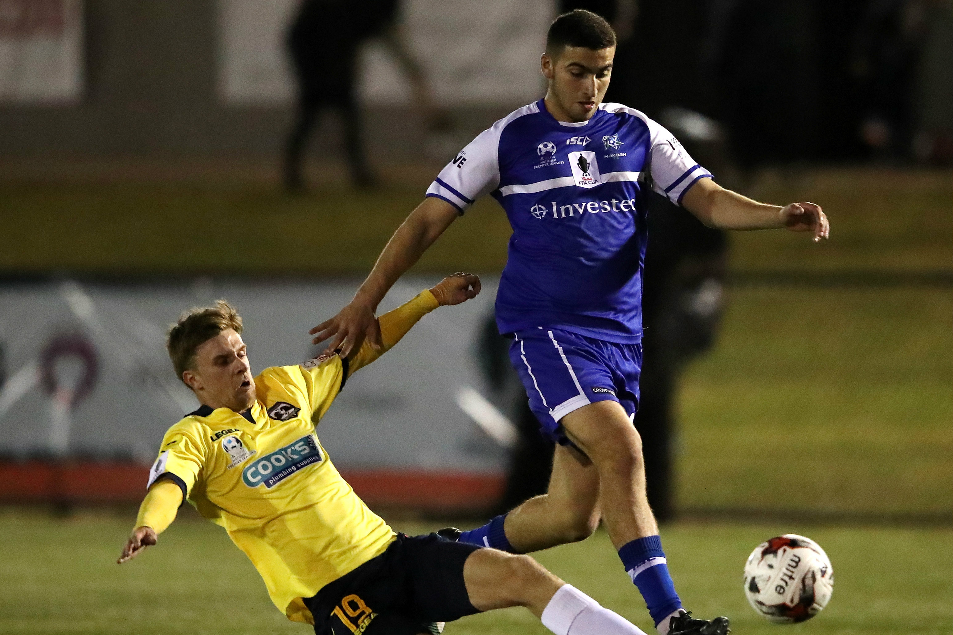 Anthony Frangie in action during the 2017 FFA Cup.