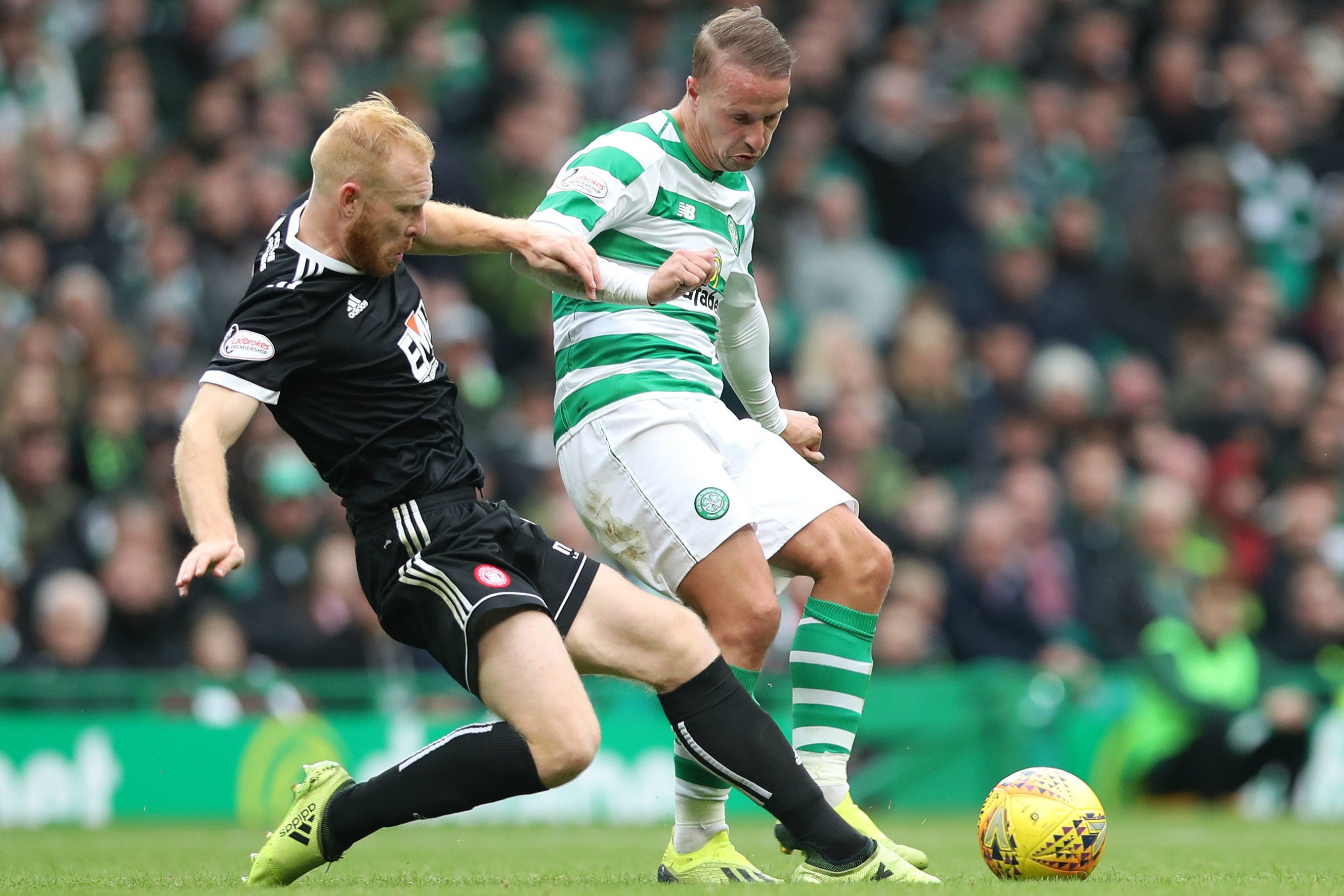 Ziggy Gordon in action against Celtic in the SPL