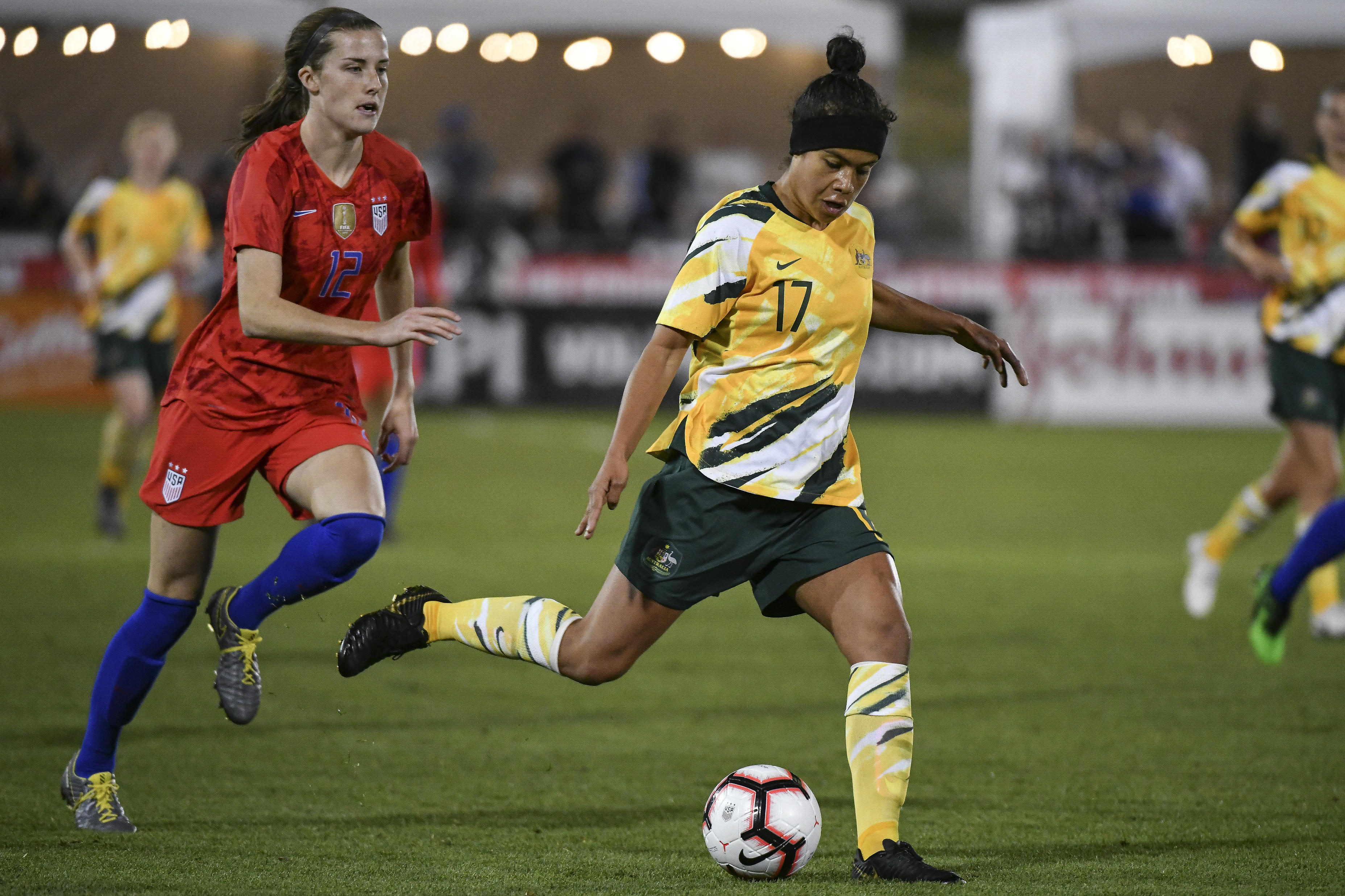 Mary Fowler will join an impressive list if she gets on the pitch against Jamaica on Wednesday morning (AEST)