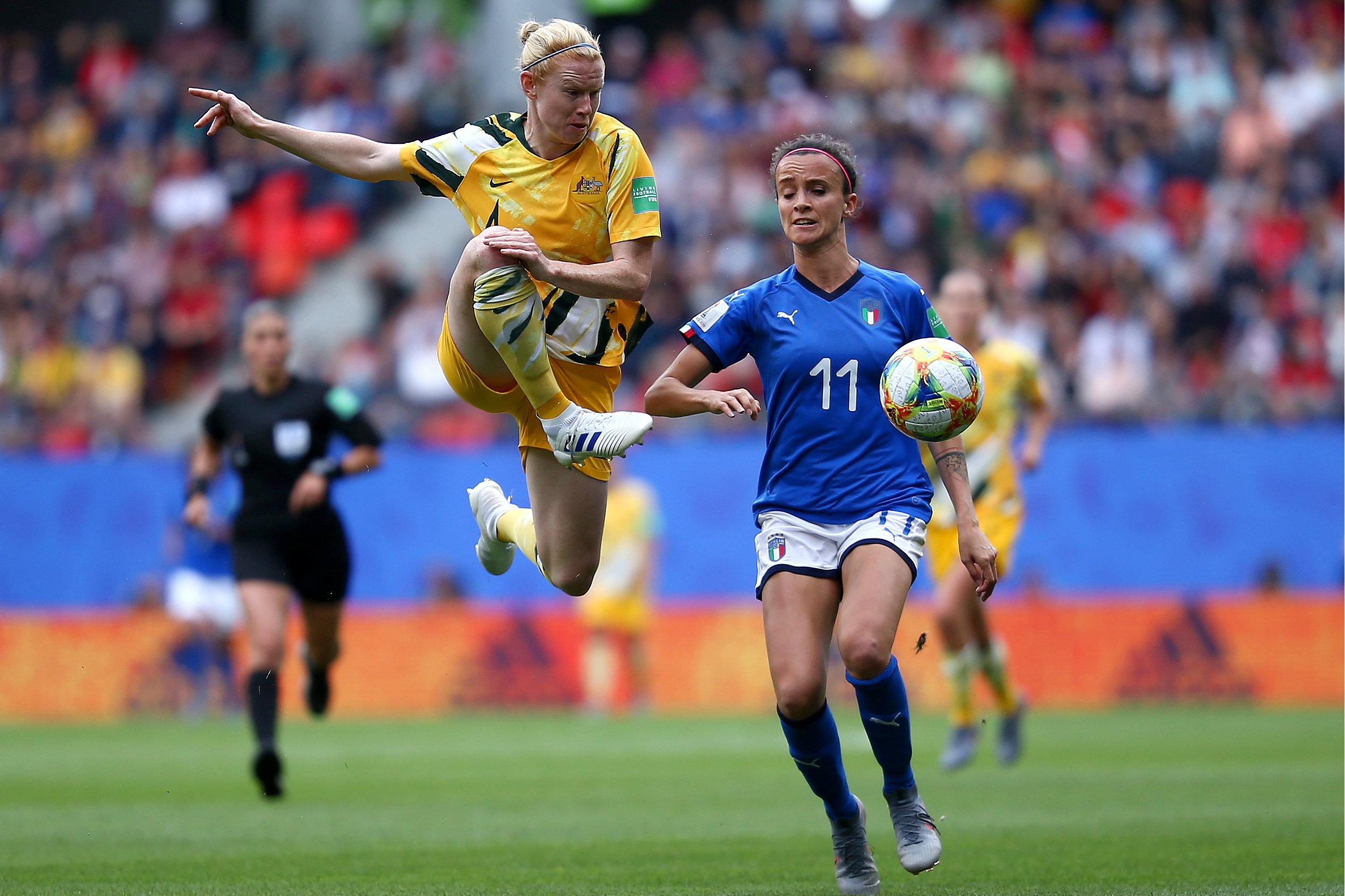 Clare Polkinghorne is battling a hamstring strain and could miss the clash with Brazil