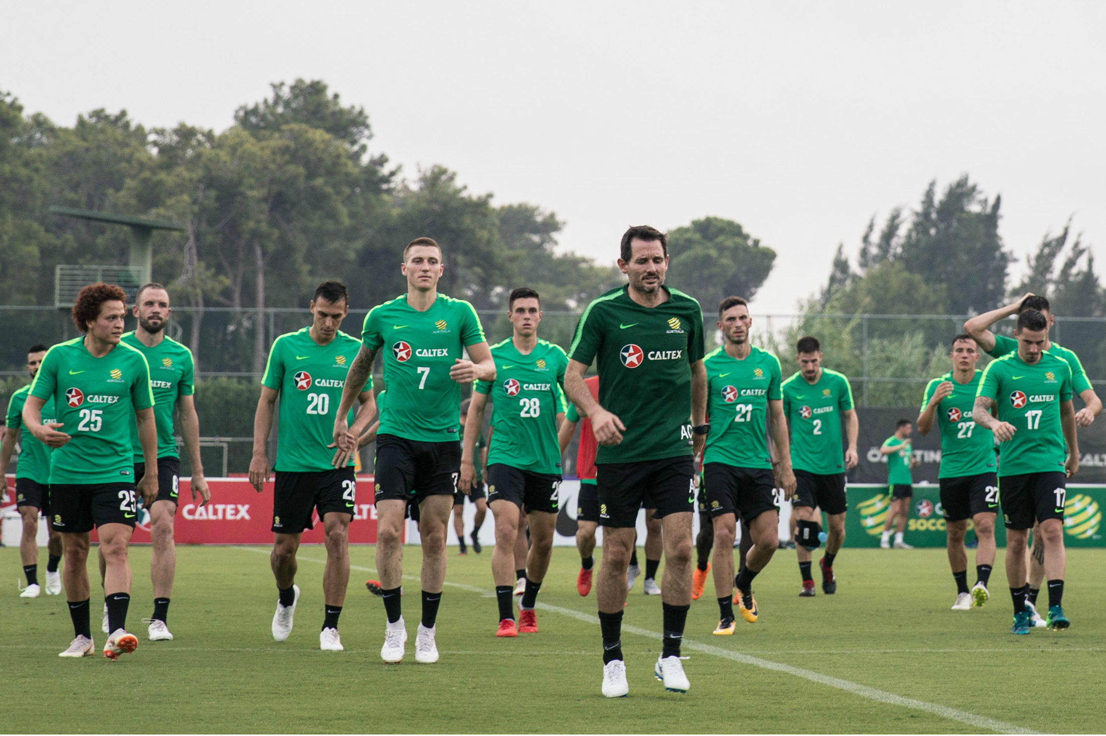 Caltex Socceroos training