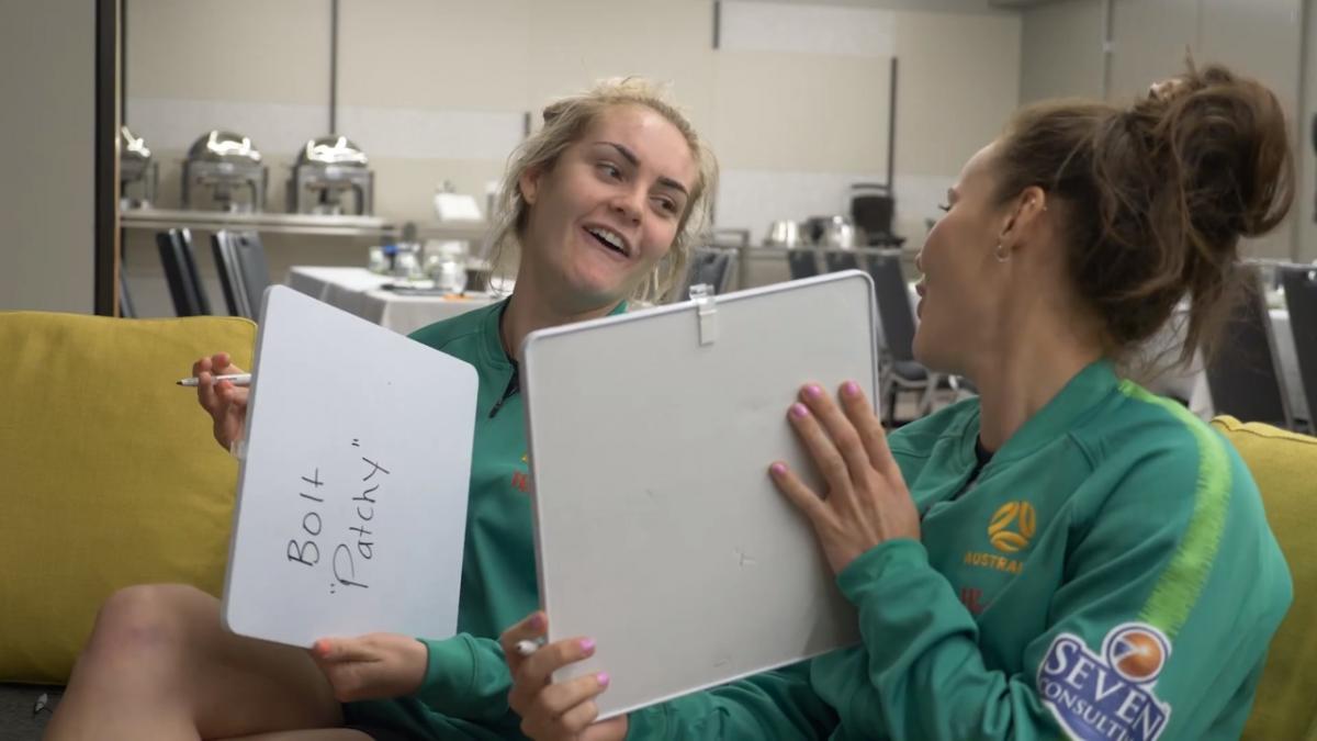 Team mates challenge: Ellie Carpenter vs Hayley Raso