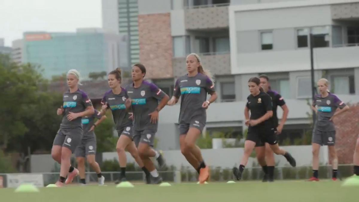 Perth Glory final training before Grand Final
