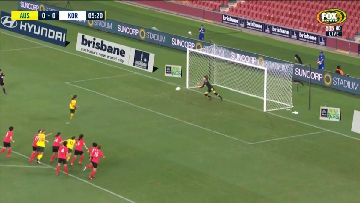 Sam Kerr opens scoring against Korea