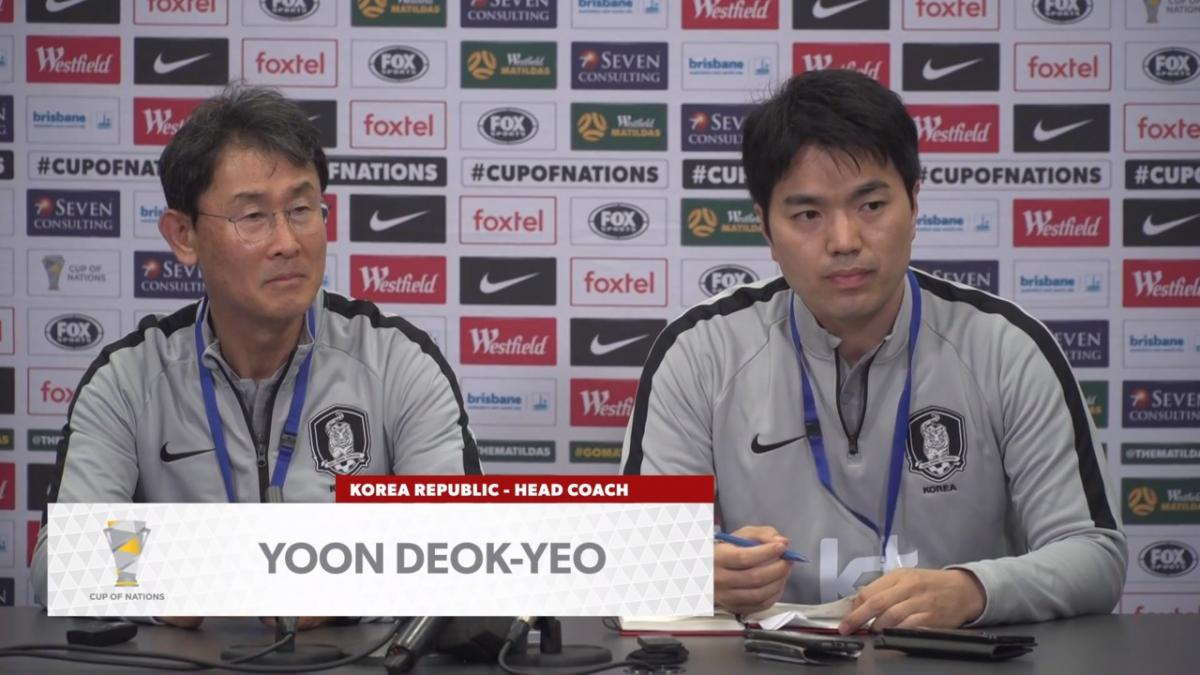 Press Conference: Yoon Deok-Yeo - Korea Republic
