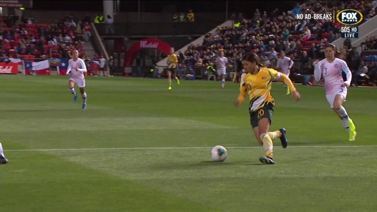 CHANCE: Kerr - Matildas denied by the crossbar