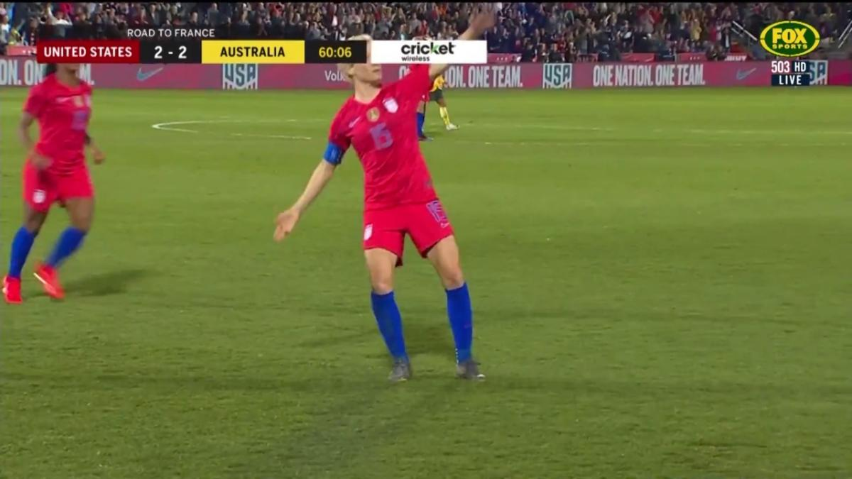Megan Rapinoe puts the USA ahead once more