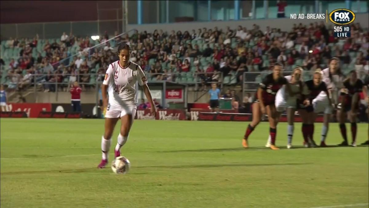 GOAL: Fowler scores the opening goal of 2019-20 W-League season