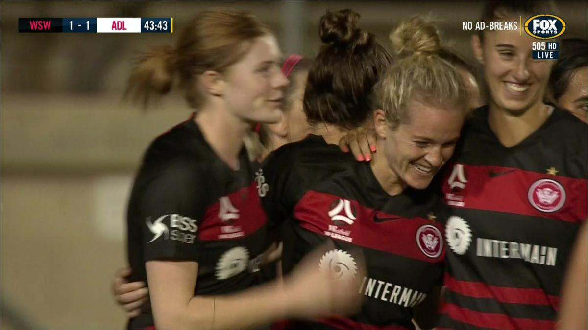GOAL: Hamilton equalises with her debut goal