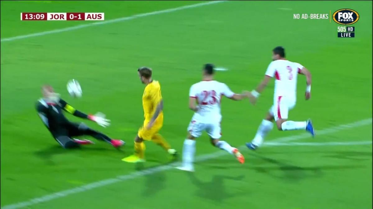 GOAL: Taggart - Socceroos grab a vital opener in Amman