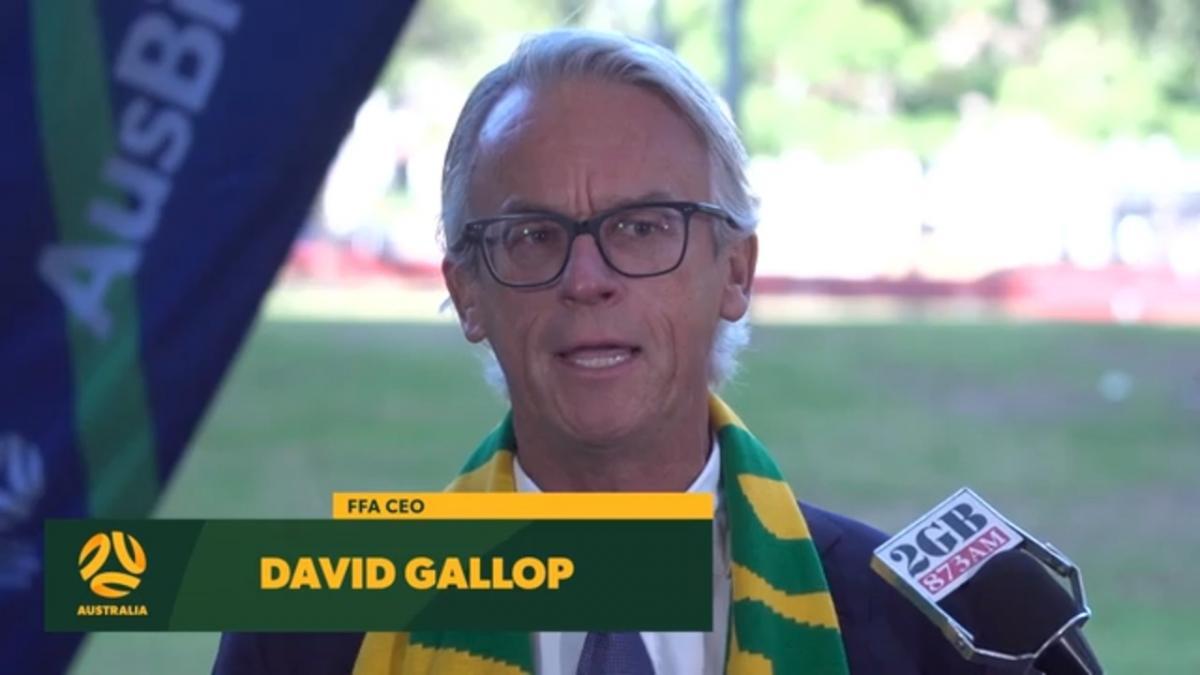 Press Conference: David Gallop backs Australia's bid for the 2023 Women's World Cup