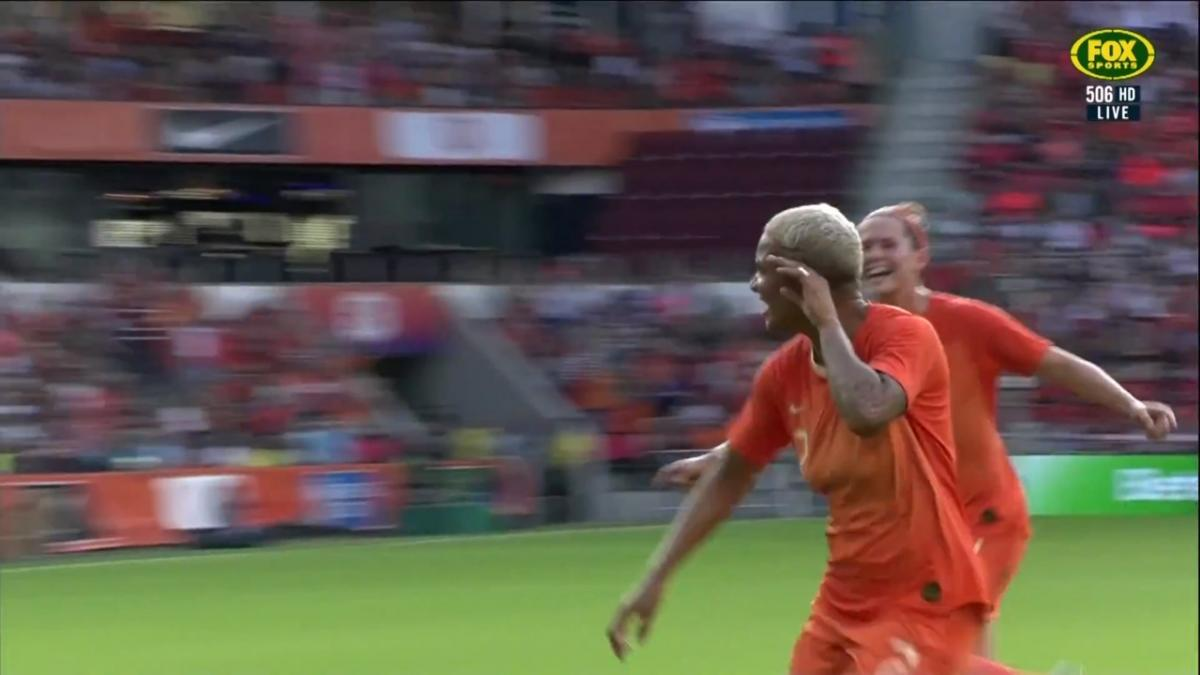 The Dutch slam a third past the Matildas