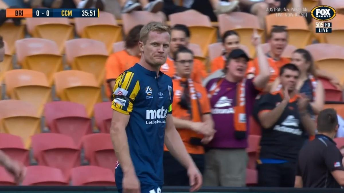 CHANCE: Simon - Mariners finding the gap in Roar's defence