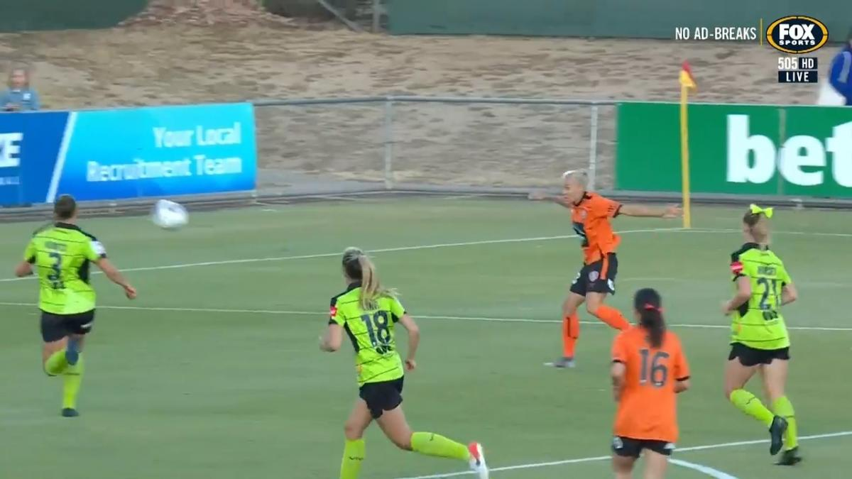 GOAL: Yallop - multiple claims for Brisbane's opening goal